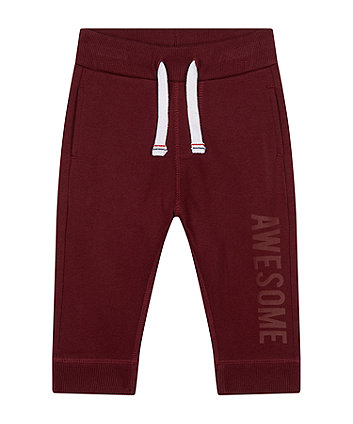 Mothercare Burgundy Joggers