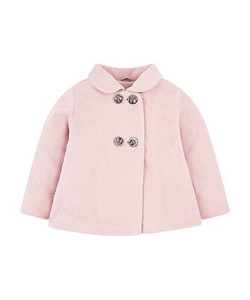 Mothercare Pink Fleece Swing Jacket