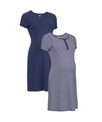 Mothercare Maternity Navy Marl Popper Night Dress