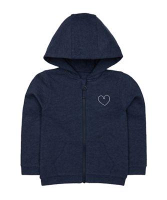 Mothercare Promo Navy Zip-Through Hoodie