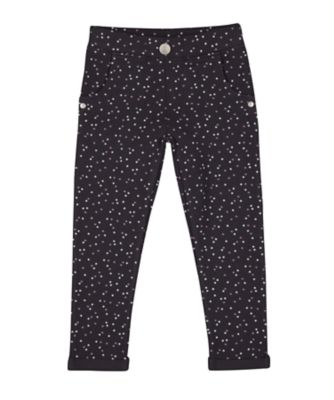 Mothercare Pretty Mash Up Charcoal Star Jeggings