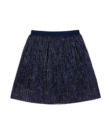 Mothercare Navy Shimmer Pleated Skirt