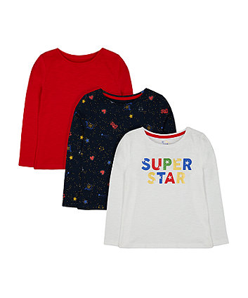 Mothercare Navy Sequin Cosmic T-Shirt