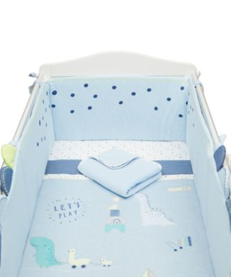 Mothercare Sleepysaurus Bed in a Bag with Long Bumper - 4pc