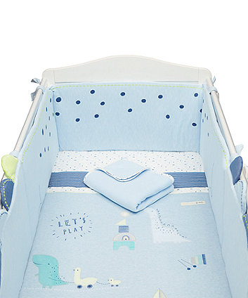 Mothercare Sleepysaurus Bed In A Bag (Includes Long Bumper)