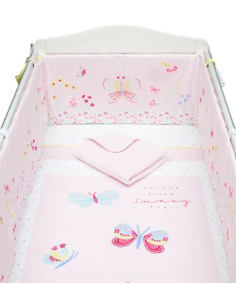 Mothercare Butterfly Bed in a Bag with Long Bumper - 4pc
