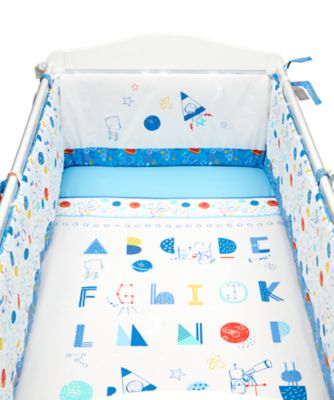 Mothercare Fun Space Bed in a Bag with Long Bumper - 4pc