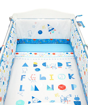 Mothercare Space Explorer Bed In A Bag (Includes Long Bumper)
