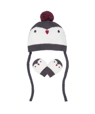 Mothercare Seasons Greetings Penguin Hat And Mitts Set