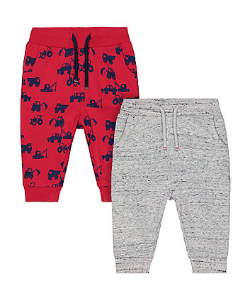Mothercare Red Tractor Joggers - 2 Pack