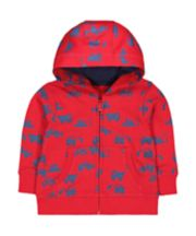 Mothercare Red Truck Hoodie