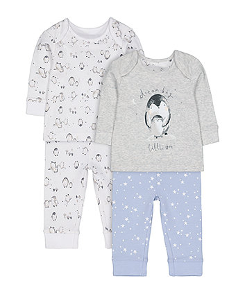 Mothercare Penguin Pyjamas - 2 Pack