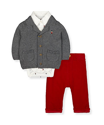 Mothercare Little Guardsman Bodysuit And Trousers Set