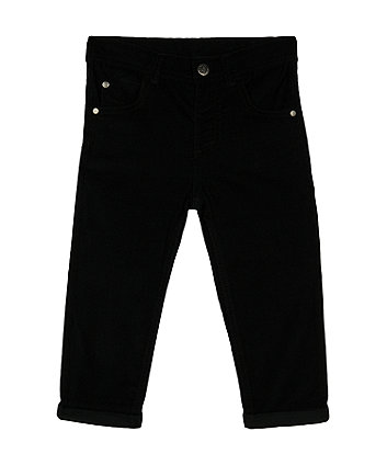 Mothercare Black Cord Trousers