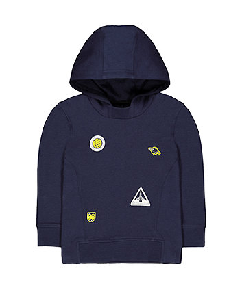 Mothercare Navy Space Badge Hoodie