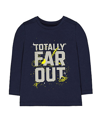 Mothercare Navy Space Far Out T-Shirt