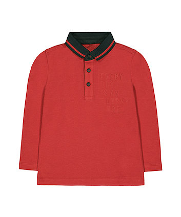 Mothercare Red Adventure Polo T-Shirt