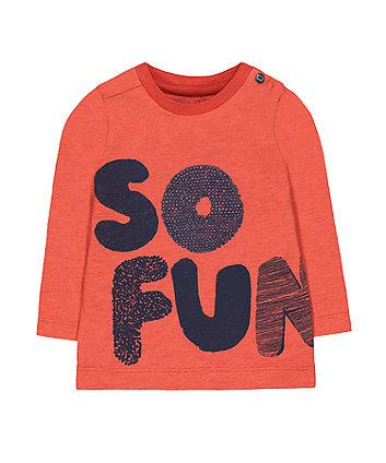 Mothercare Orange So Fun T-Shirt