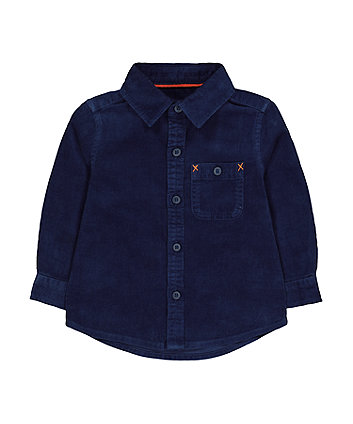 Mothercare Navy Cord Shirt