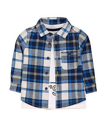 Mothercare Let'S Go Shirt And Tee Set