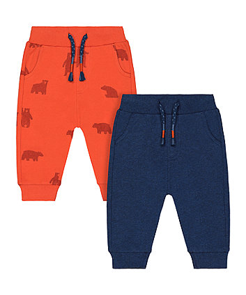 Mothercare Bear Joggers - 2 Pack