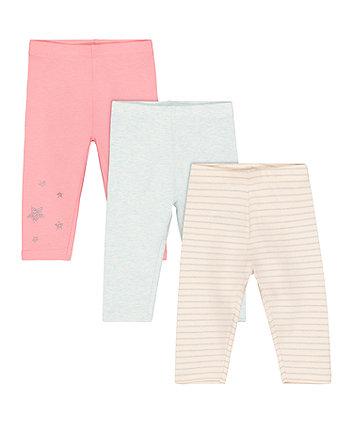 Mothercare Star Leggings - 3 Pack
