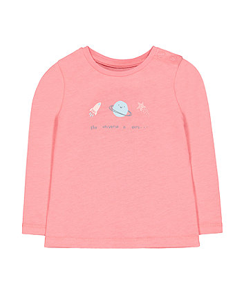 Mothercare Pink Planet T-Shirt