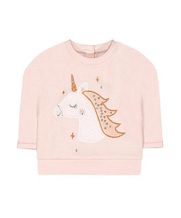 Mothercare Pink Unicorn Sweat Top