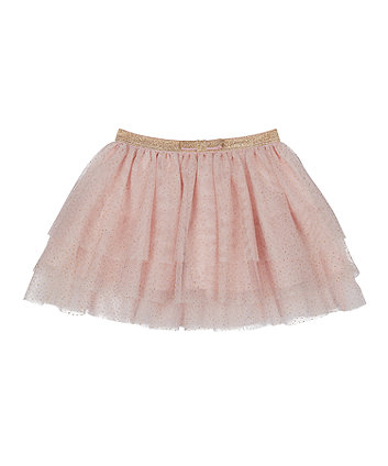 Mothercare Pink And Gold Sparkle Mesh Tutu Skirt