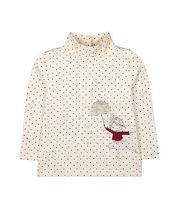 Mothercare Cream Spot Rain Roll-Neck Jumper