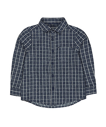 Mothercare Navy Checked Shirt
