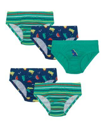 Mothercare Green Dinosaur Briefs - 5 Pack