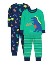 Mothercare Blue Roar Dinosaur Pyjamas - 2 Pack
