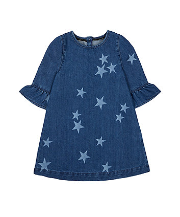 Mothercare Denim Star Frill Dress
