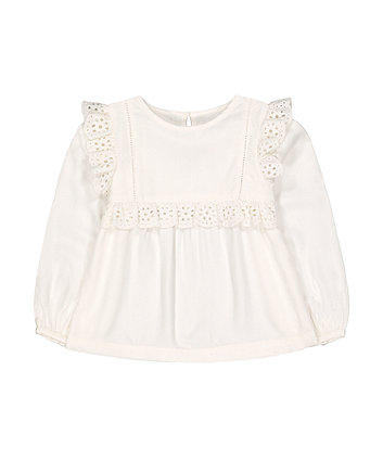 Mothercare White Frill Woven Blouse