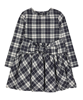 Mothercare Grey Checked Dress