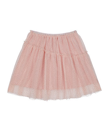 Mothercare Sparkly Pink Mesh Skirt