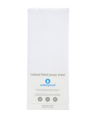 Mothercare Fitted Waterproof Jersey Cot Bed Sheet