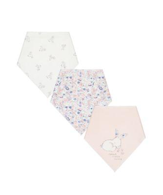 Mothercare Bunny Dribbler Bibs - 3 Pack