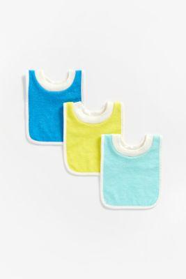 Mothercare Newborn Unisex Pullover bibs - 3 Pack