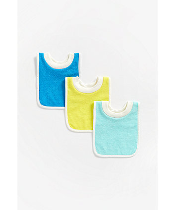 Mothercare Pull-Over Towelling Bibs - 3 Pack