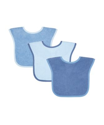 Mothercare Toddler Towelling Bibs Blue 3-Pack