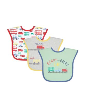 Mothercare Toddler Bibs Mummy & Daddy Cars - 3 Pack