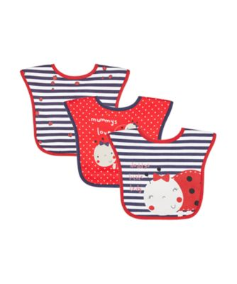 Mothercare Toddler Bibs Lady Bug - 3 Pack