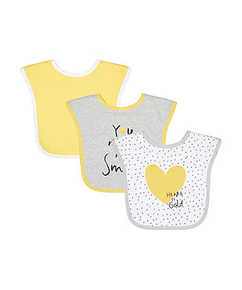 Mothercare Smile Toddler Bibs - 3 Pack