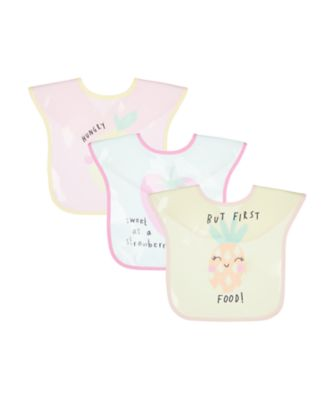 Mothercare Fruits Oil-Cloth Toddler Bibs - 3 Pack