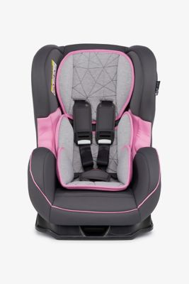Mothercare Madrid Combination Car Seat - Grey and Pink