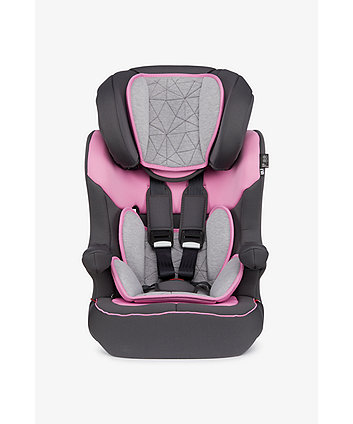 Mothercare Advance Xp Highback Booster Car Seat - Grey/Pink