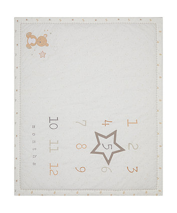 Mothercare Little And Loved Milestone Quilt
