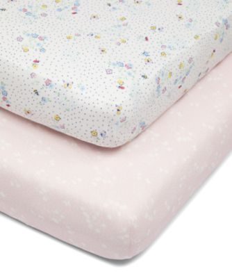 Mothercare Spring Flower Fitted Cot Bed Sheets - 2pk